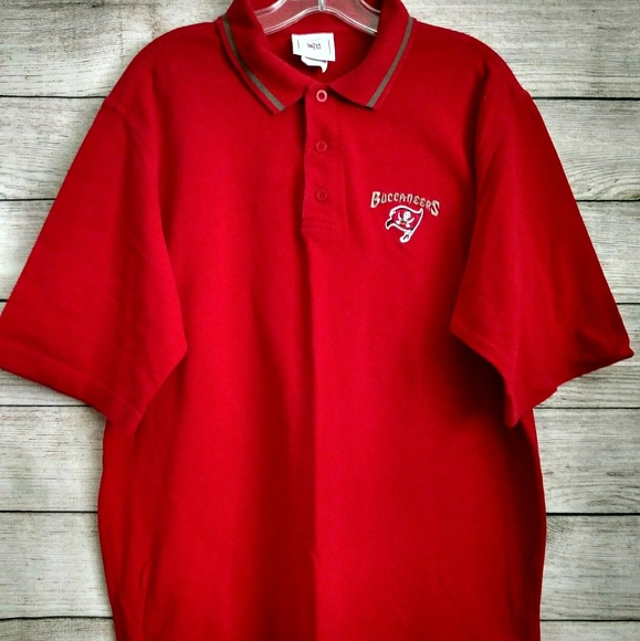 56728734 NFL Shirts   Tampa Bay Buccaneers Red Polo Shirt Size L   Poshmark